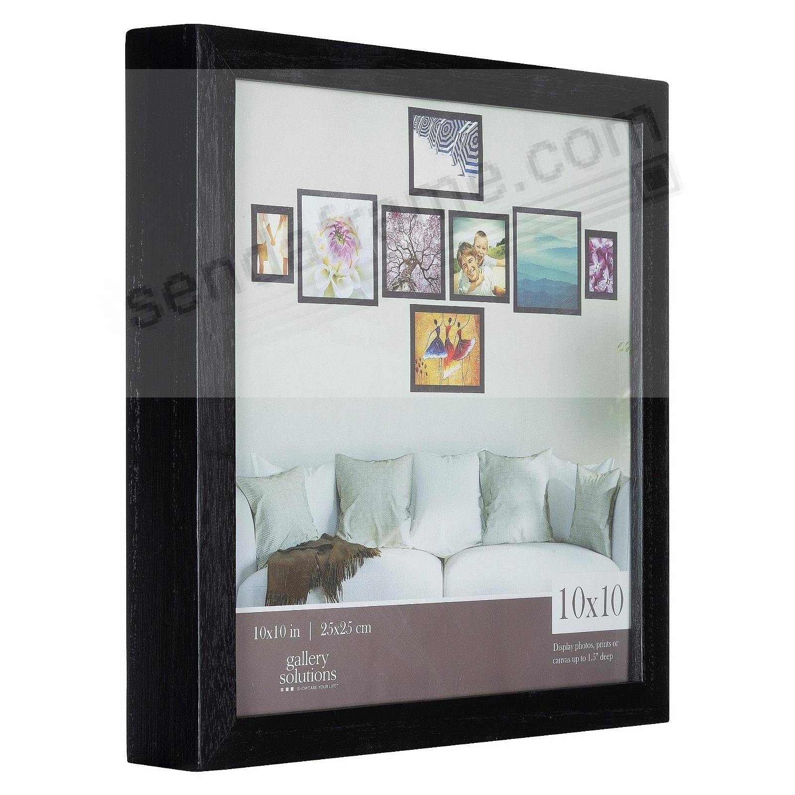 BLACK GALLERY 10x10 frame by Gallery Solutions®