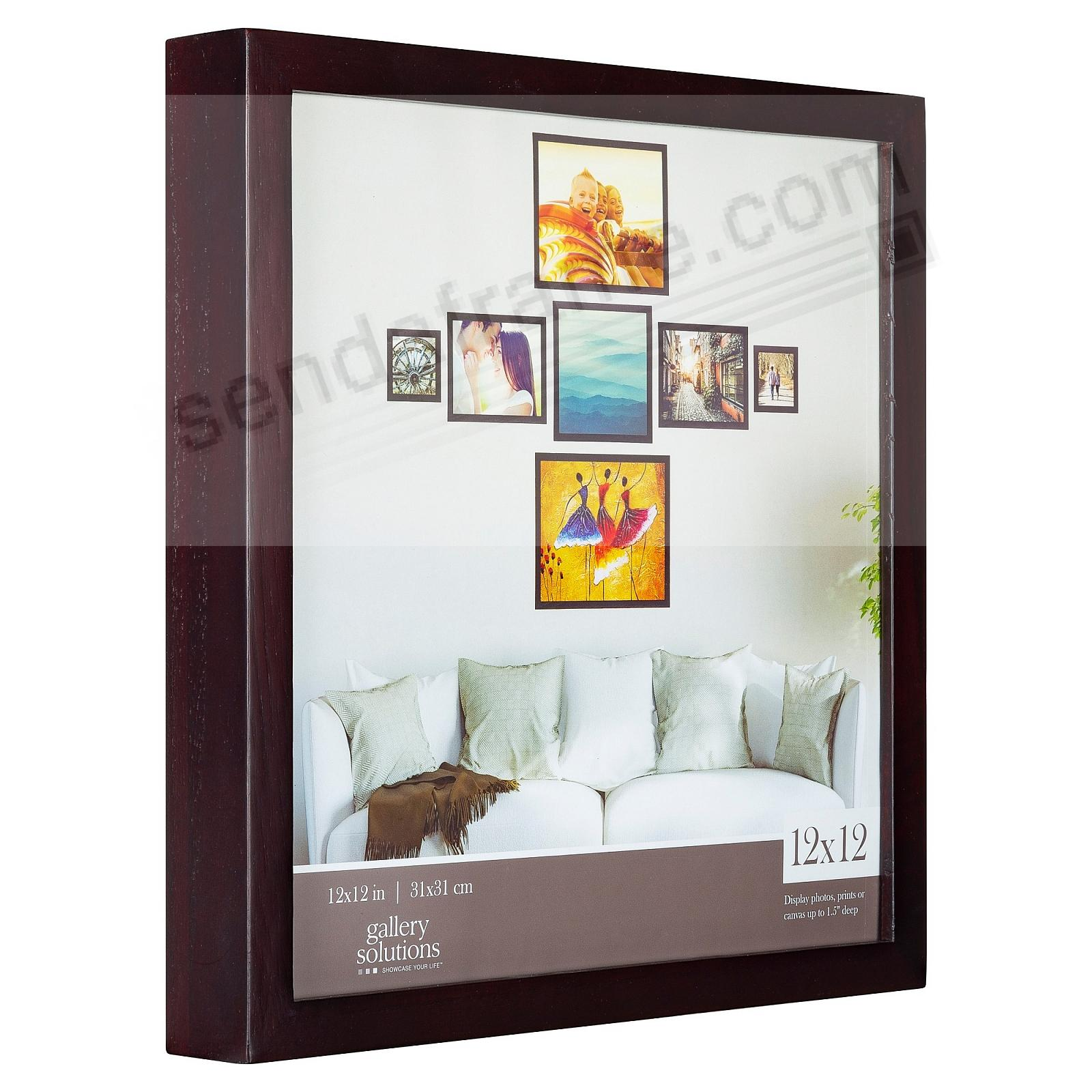 Walnut GALLERY 12x12 frame by Gallery Solutions®