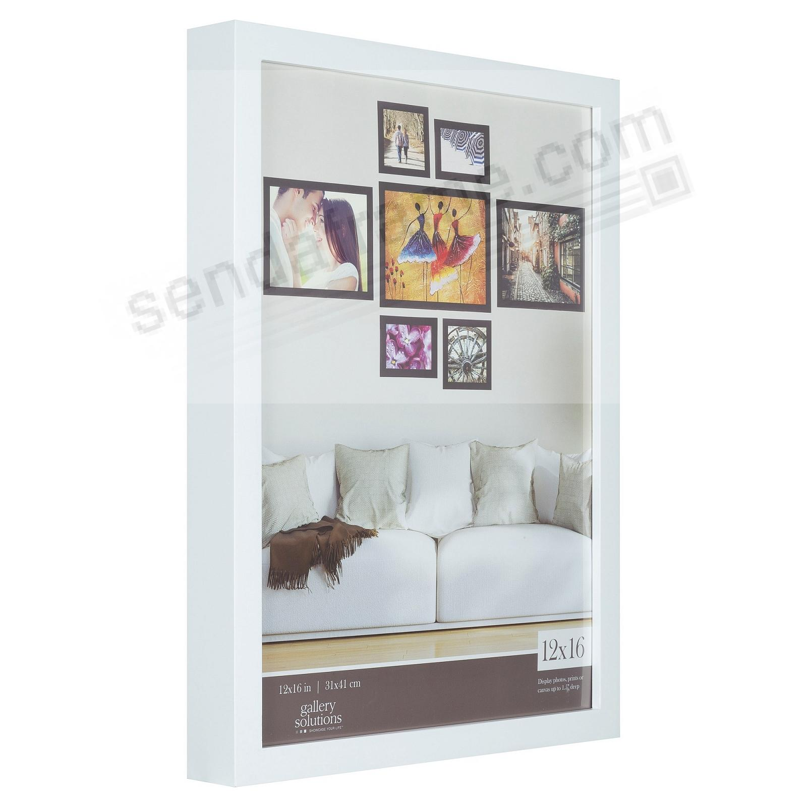 WHITE GALLERY 12x16 frame by Gallery Solutions®