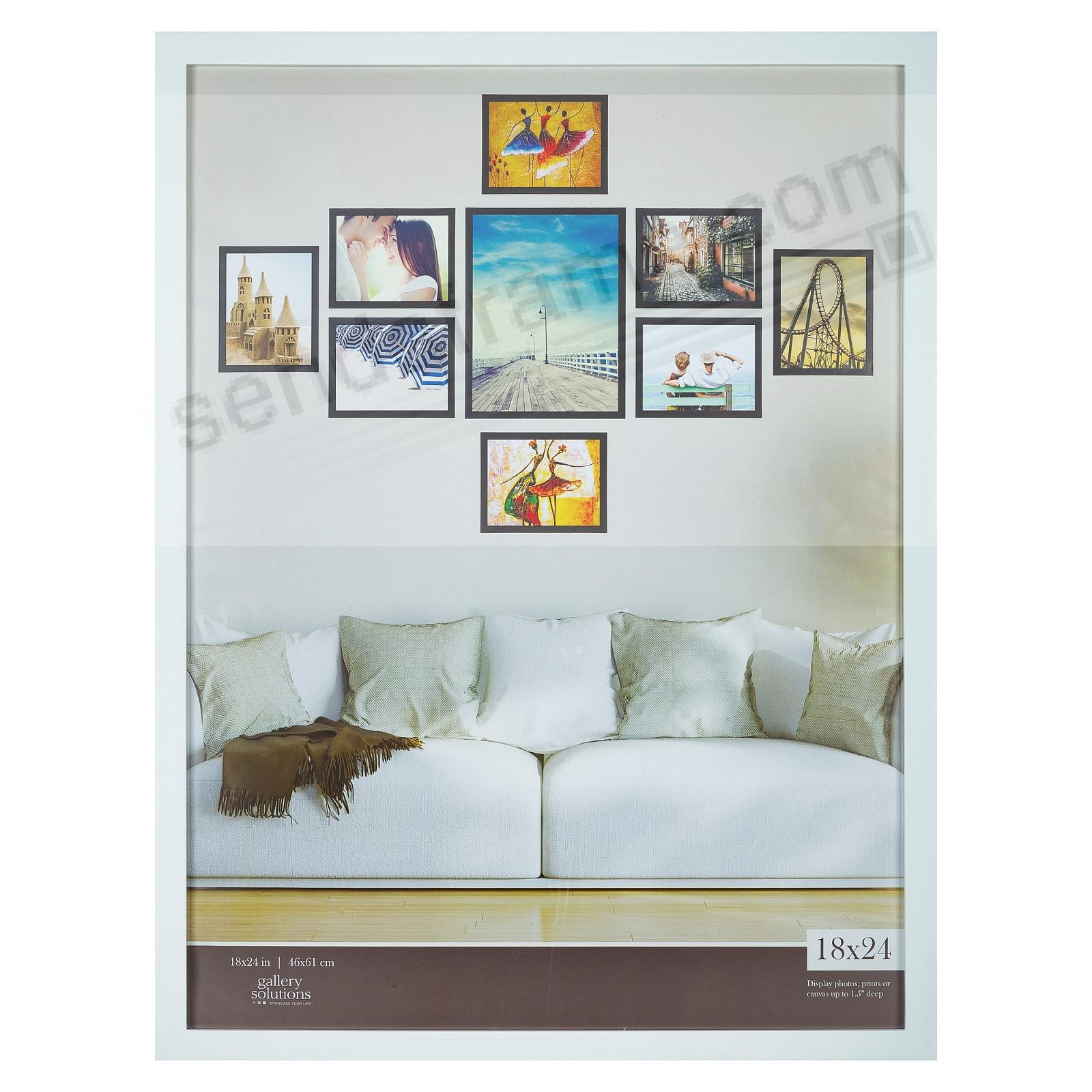 WHITE GALLERY 18x24 frame by Gallery Solutions®