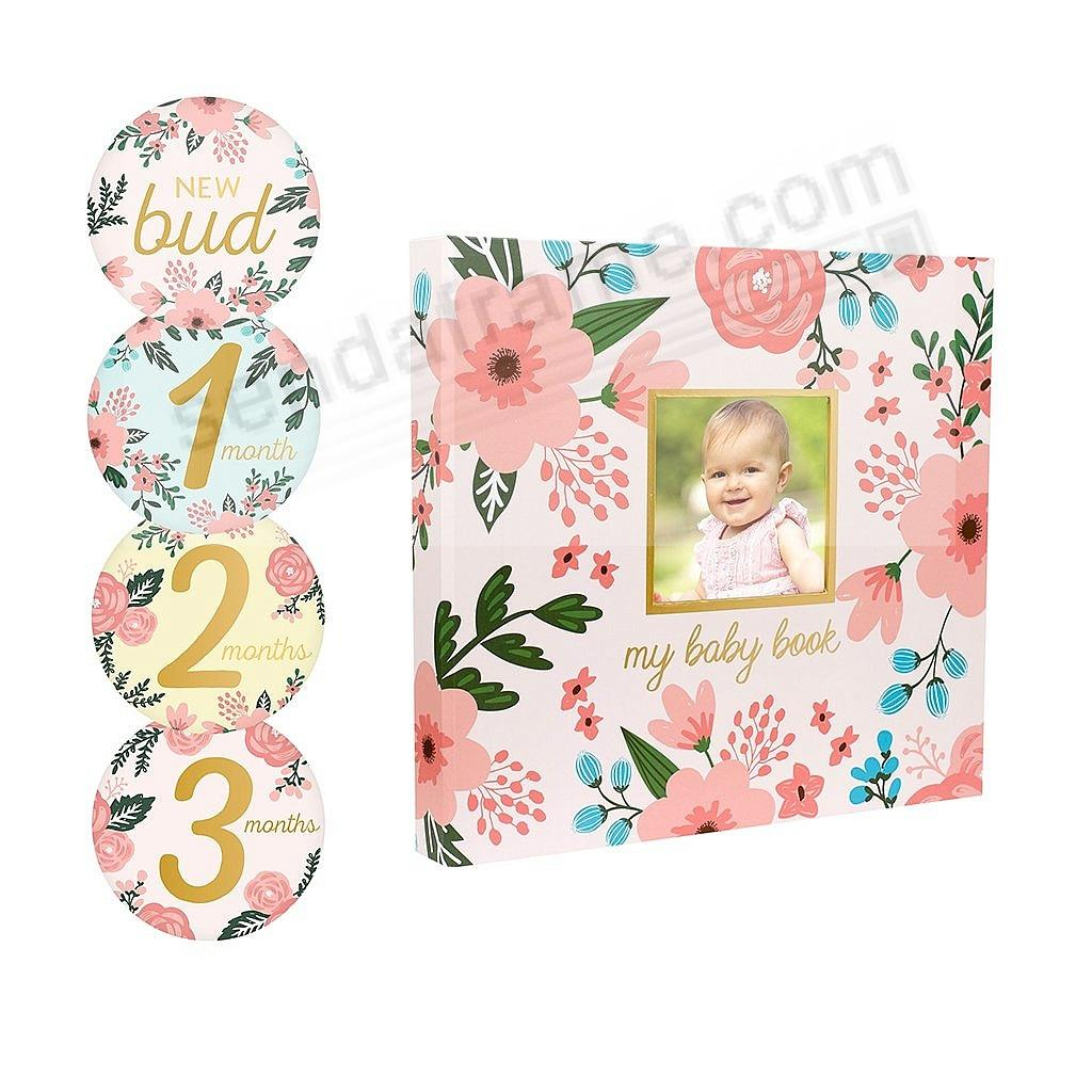FLORAL MEMORY BOOK with Stickers by PEARHEAD®