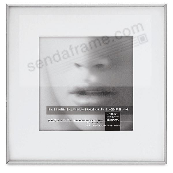 FINELINE Silver Aluminum 8x8/5x5 Matted by Framatic®