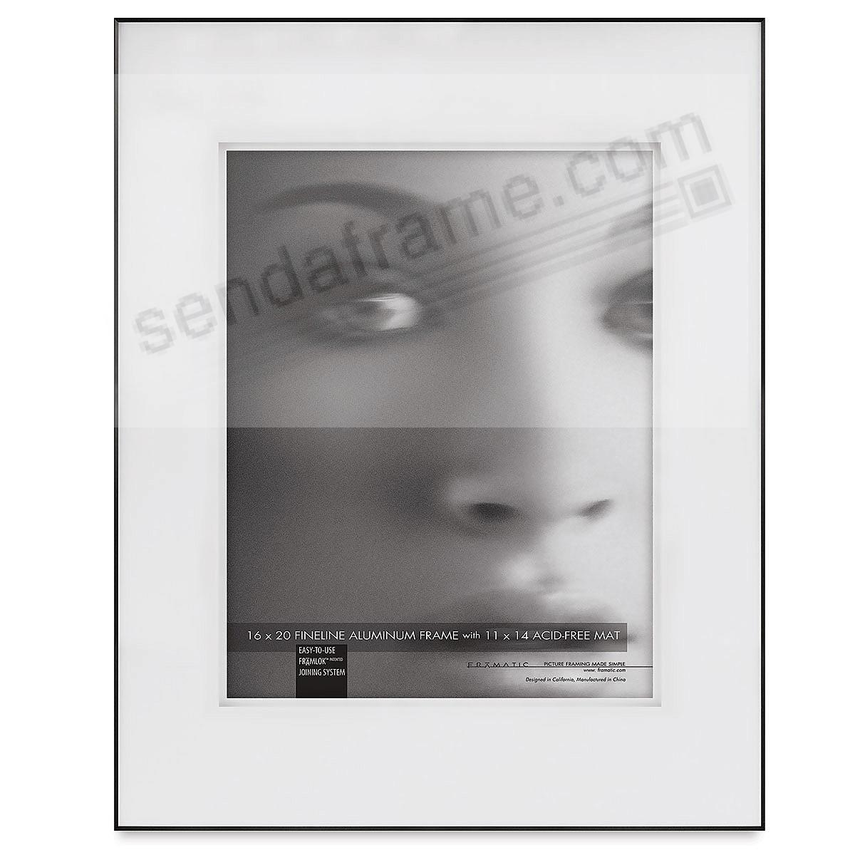 FINELINE Black Aluminum 16x20/11x14 Shadow-Matted by Framatic®