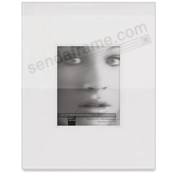 FINELINE White Aluminum Shadow-Mat 16x20/8x10 by Framatic®