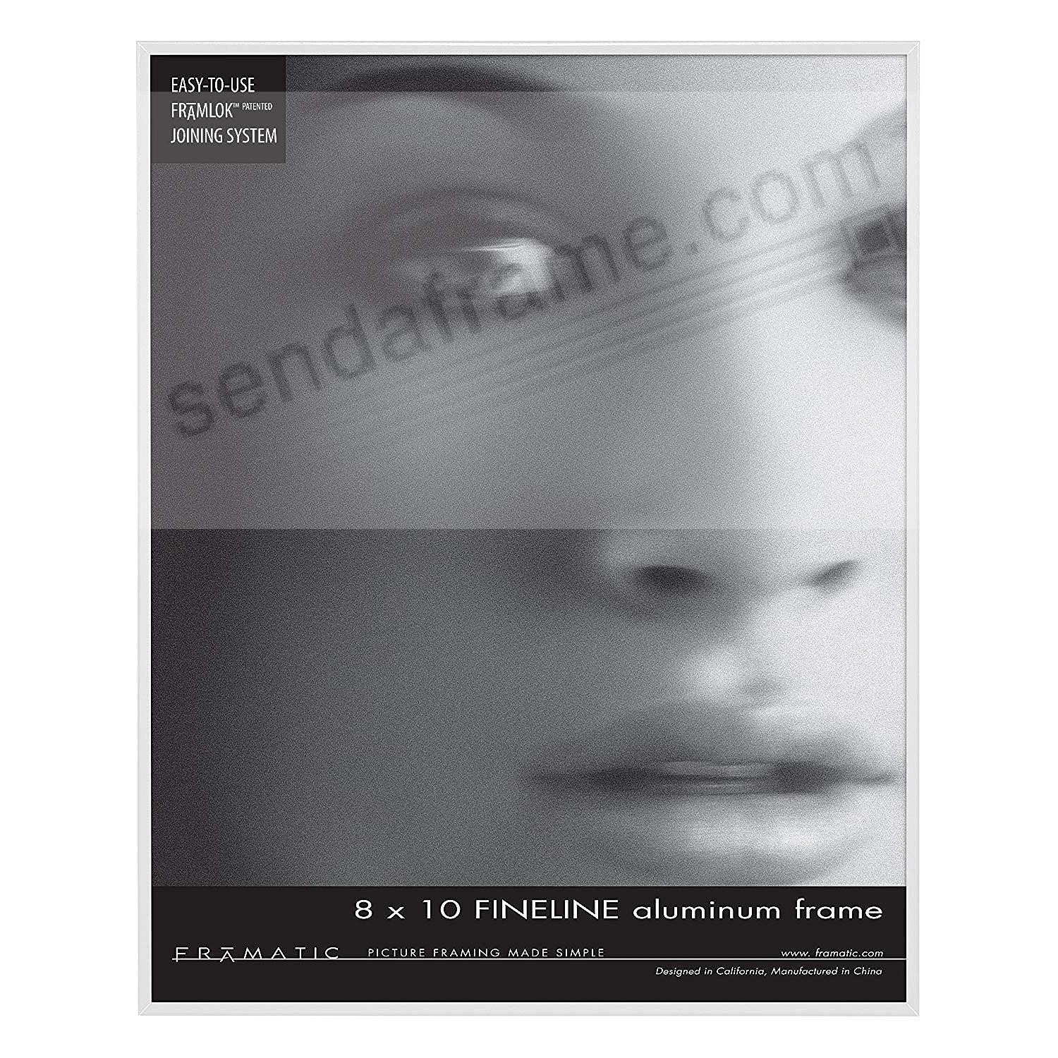 FINELINE White Aluminum 8x10 by Framatic®