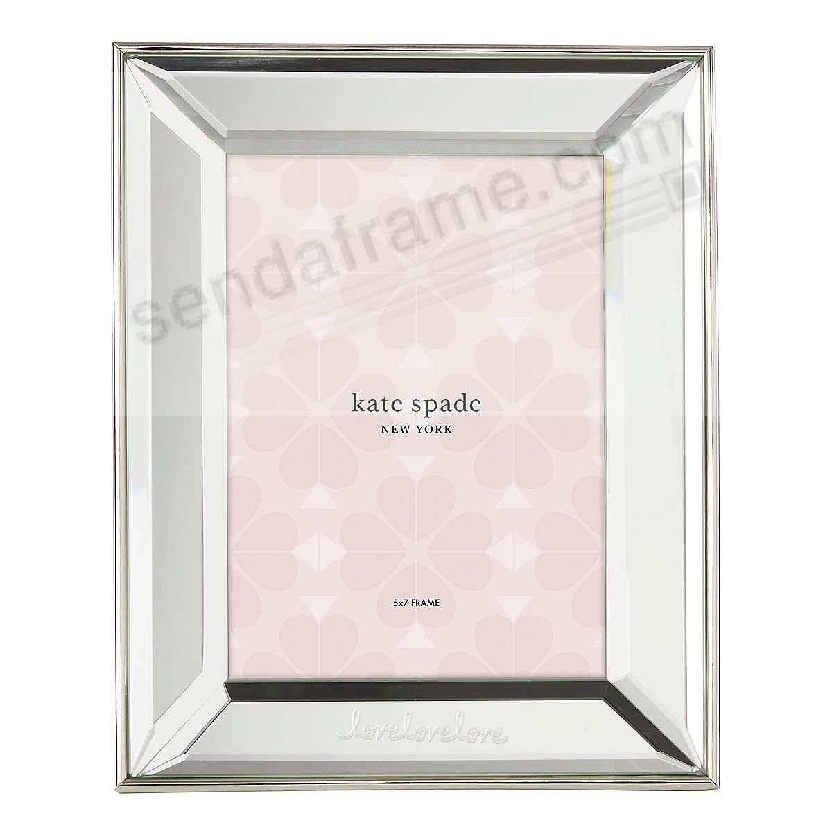 LOVE LOVE LOVE 5x7 frame by kate spade new york®