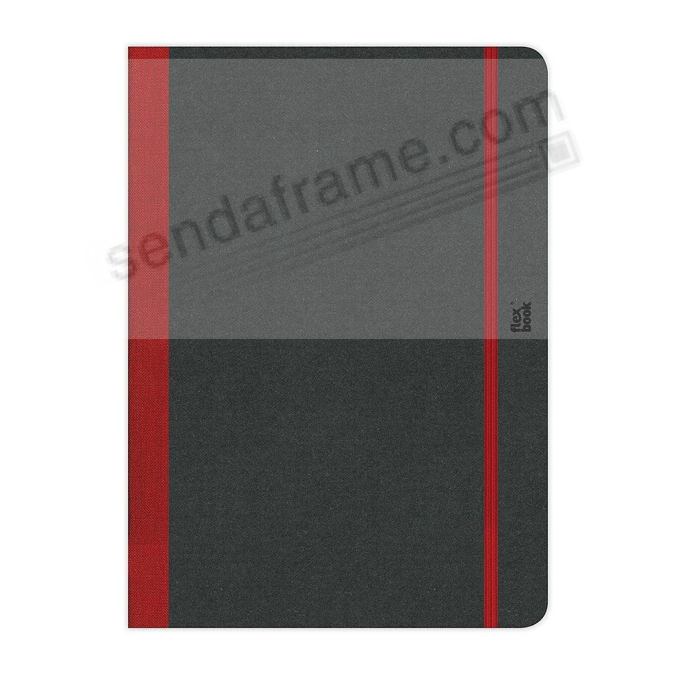 FLEXBOOK NOTEBOOK (3x5 Blank) BLACK/Red by PratParis®