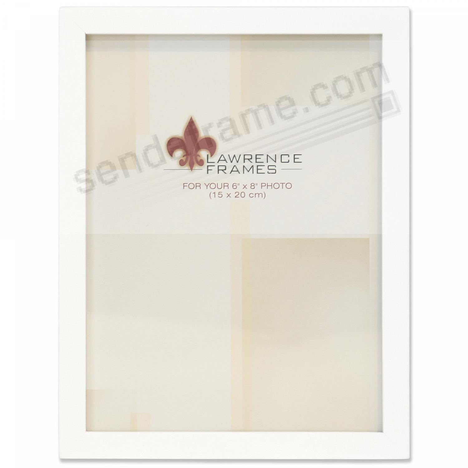 White square-corner 6x8 frame by Lawrence®