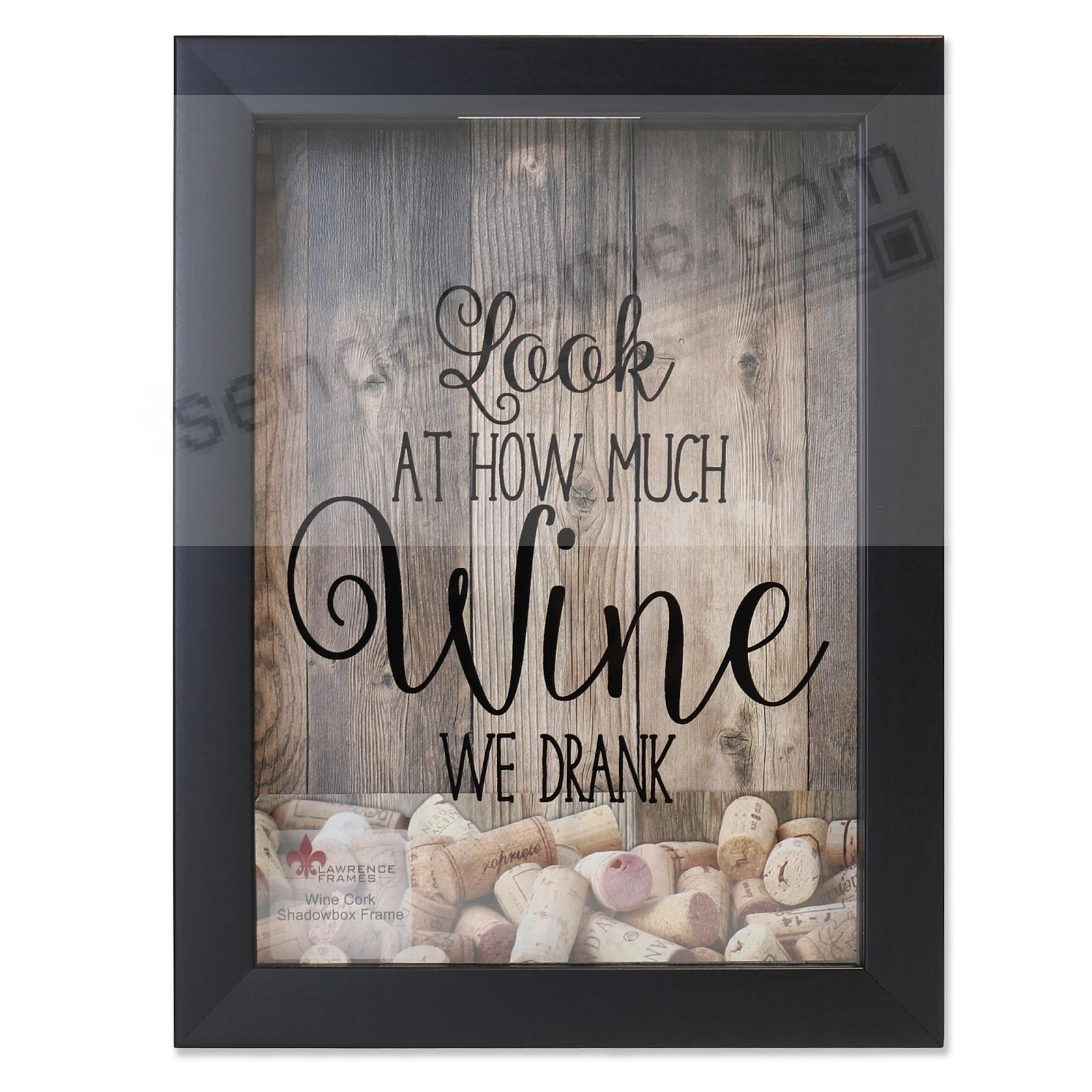 WINE CORK HOLDER Black ShadowBox 8x11 frame by Lawrence®