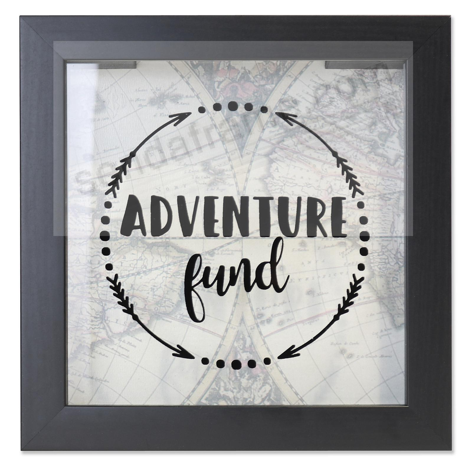 ADVENTURE FUND Black ShadowBox Bank frame by Lawrence®