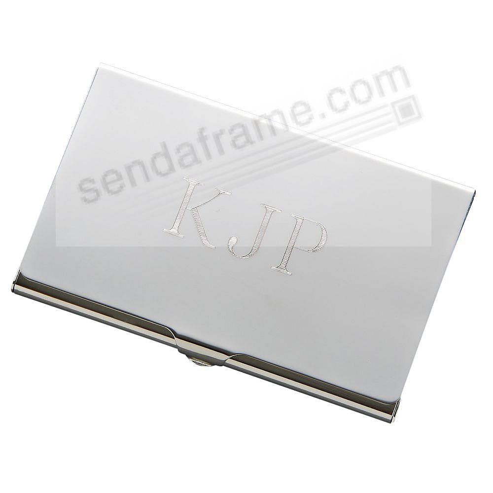 Silver High-polished Business Card Case