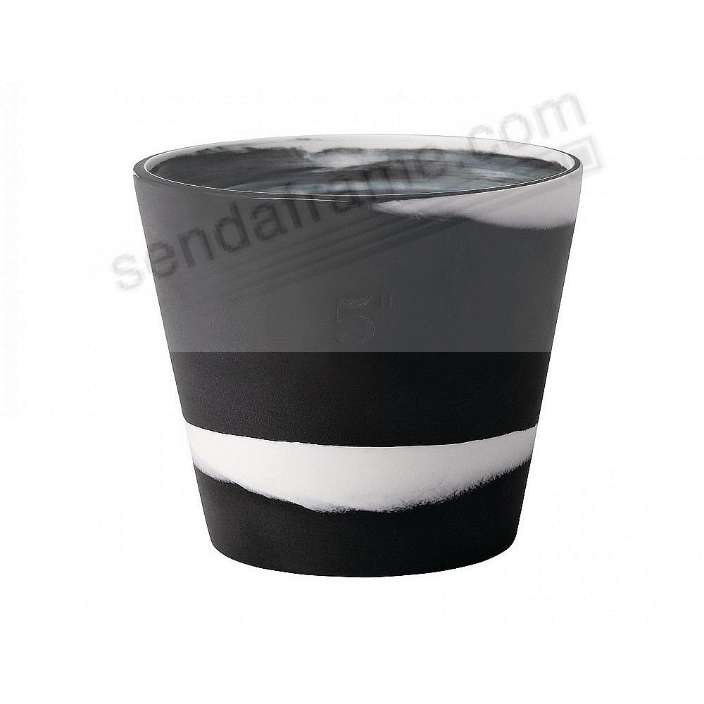 BURLINGTON PLANTER POT Black+White 5in by Wedgwood®