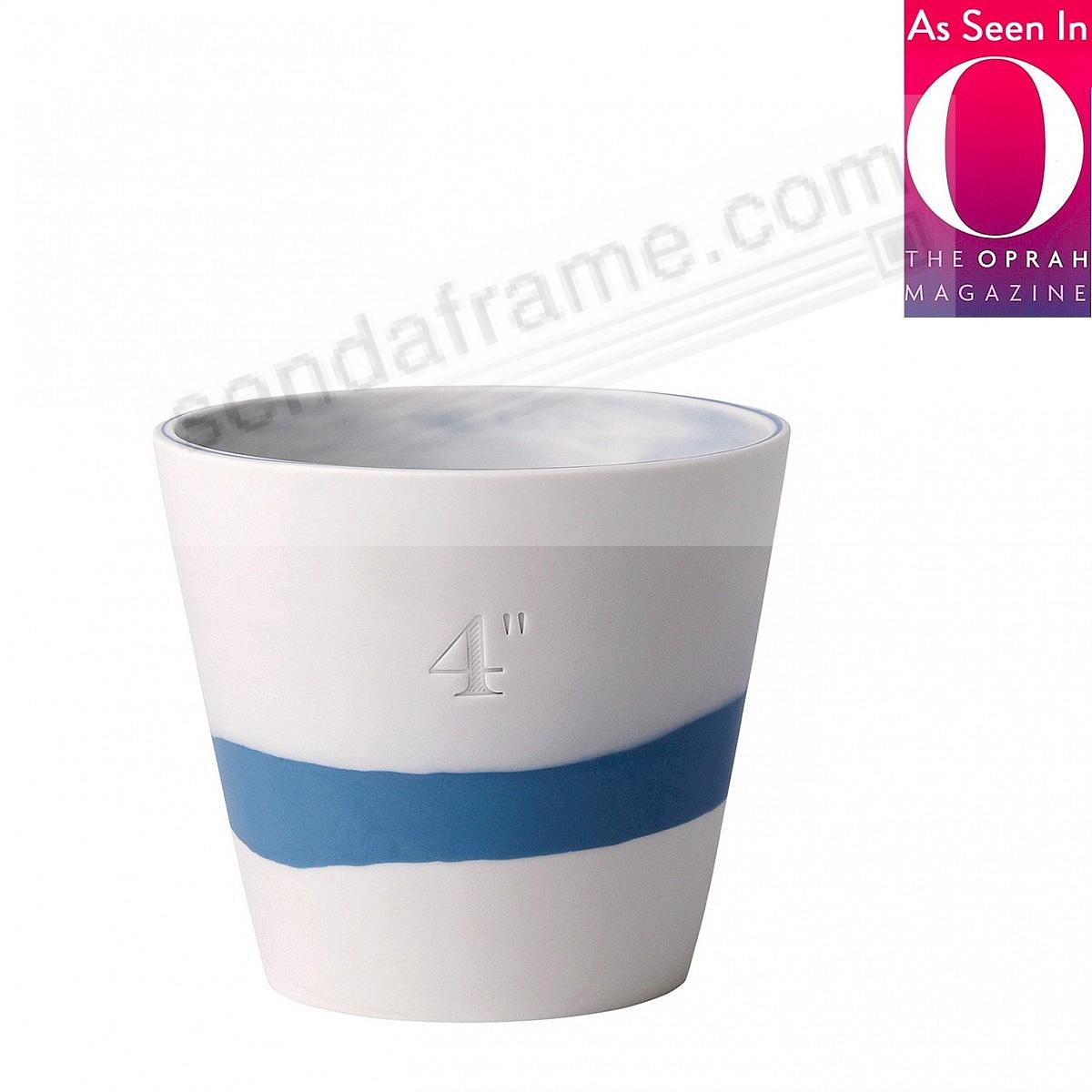 BURLINGTON PLANTER POT Blue+White 4in by Wedgwood®