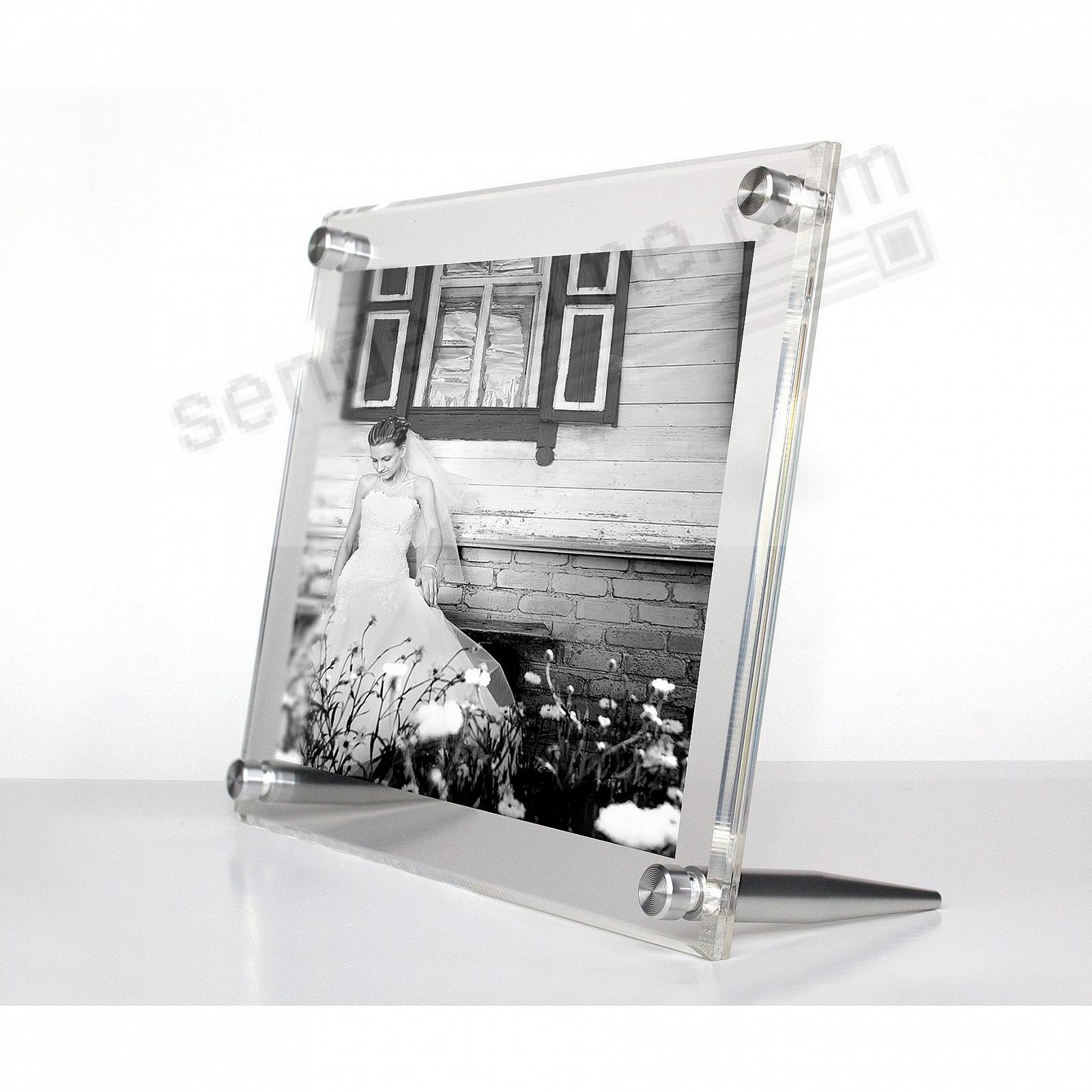 ACRYLIC BEVEL FLOAT CLEAR/Silver Frame 6x8/4x6 by Wexel Art®