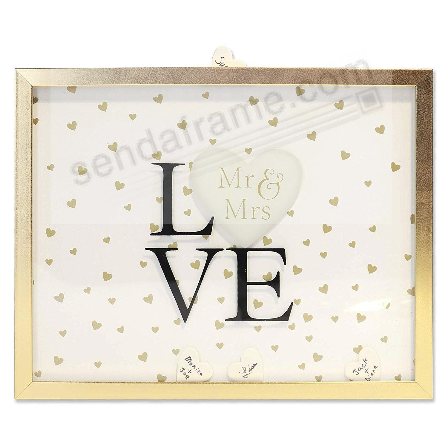 Wedding Shadow Box 10x13 w/Heart Signature Tiles by Lawrence®