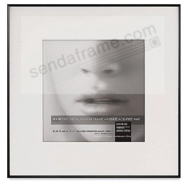 FINELINE Black Aluminum 16x16/11x11 Matted by Framatic®