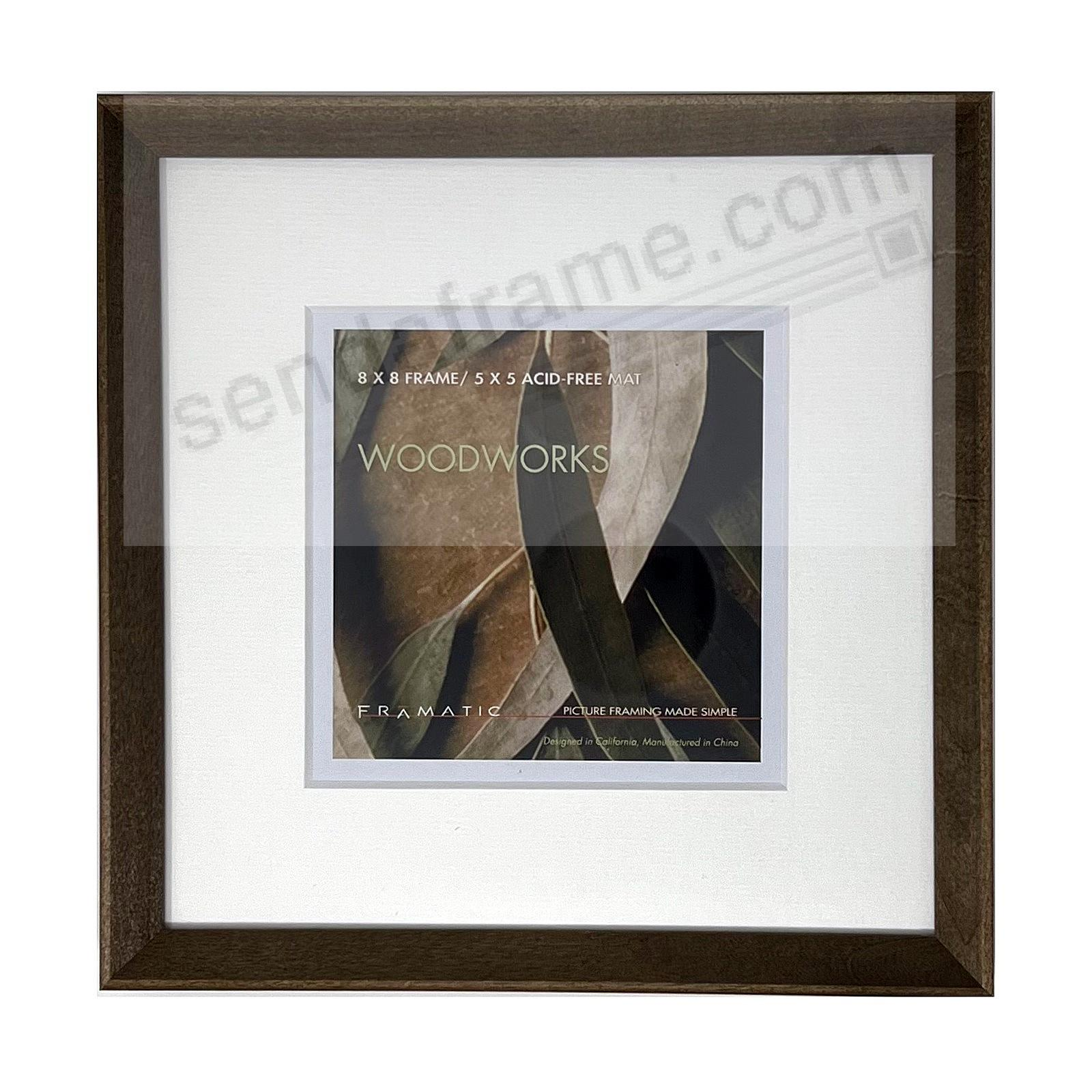 WOODWORKS BARN GREY Matted 8x8/5x5 by FRAMATIC®