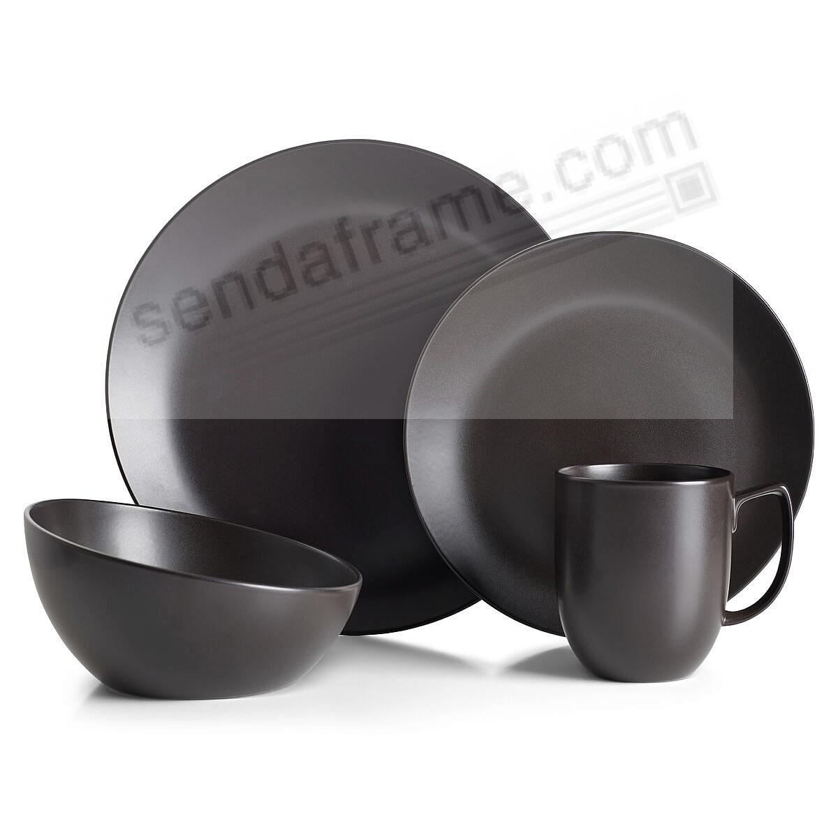 ORBIT DINNERWARE 4-pc Place Setting CELESTIAL-BLACK by Nambe®