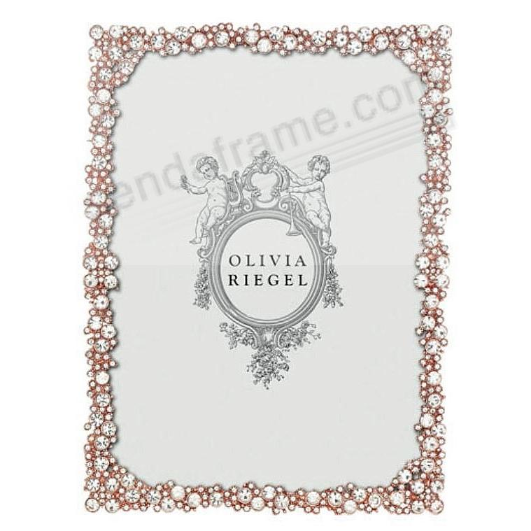 PRINCESS Austrian Crystal/Rose-Gold 8x10 frame by Olivia Riegel®