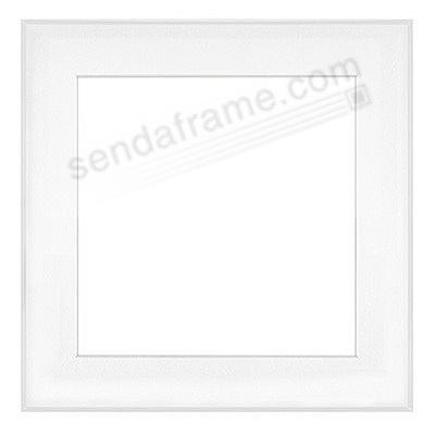 FINELINE White Aluminum Matted 11x11/8x8 by Framatic®