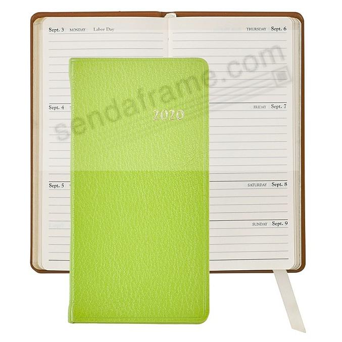 2020 BRIGHTS LIME 5-inch Pocket Datebook Leather by Graphic Image™