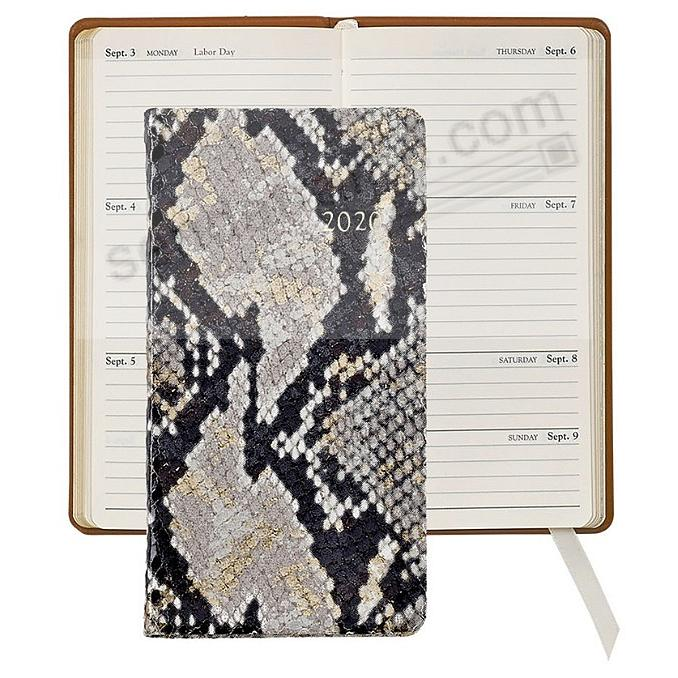 2020 Natural GOLD-WASH PYTHON 6-in Pocket Datebook Fine EMBOSSED Leather by Graphic Image™