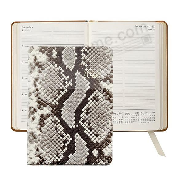 2020 Notebook Planner 7-in Natural Python Embossed Leather by Graphic Image™