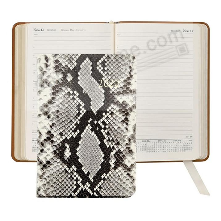 2020 NATURAL PYTHON EMBOSSED Fine Leather Daily 8-in Journal by Graphic Image™