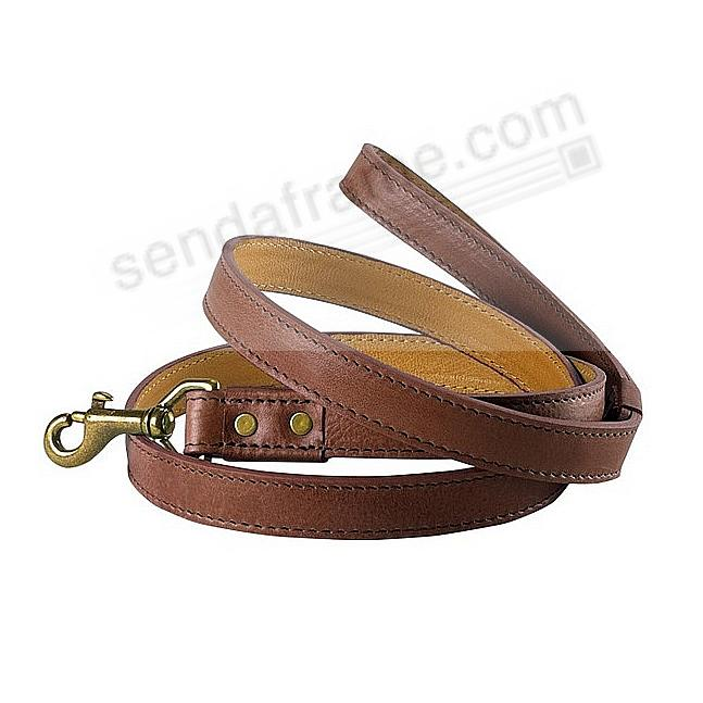 4-ft DOG LEASH BROWN ITALIAN LEATHER by Graphic Image™