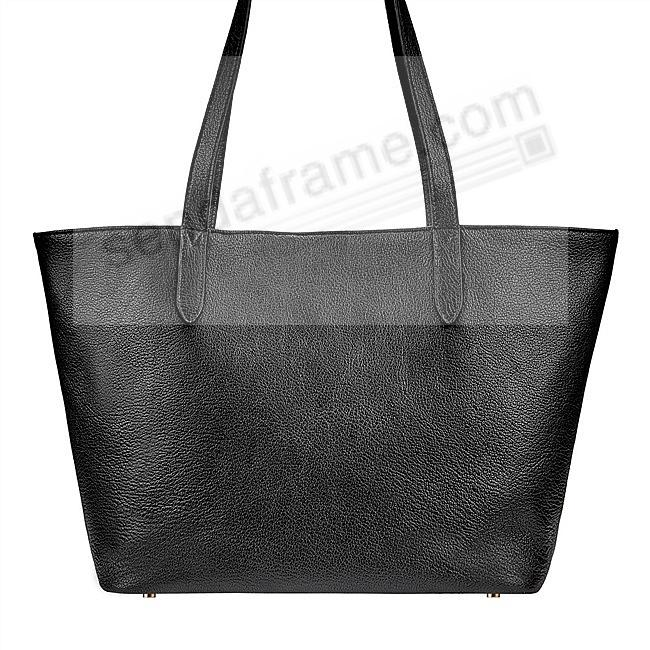 The Original CASSIE TOTE crafted in Black Soft Leather by Graphic Image™