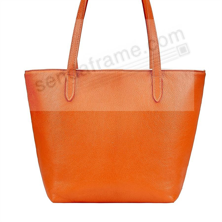 The Original ELLA TOTE crafted in Orange Soft Leather by Graphic Image™