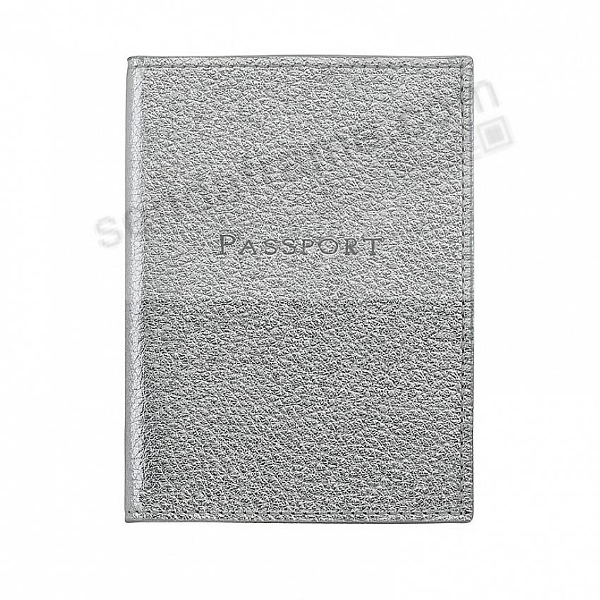 PASSPORT/ID HOLDER in Metallic Silver Leather by Graphic Image®