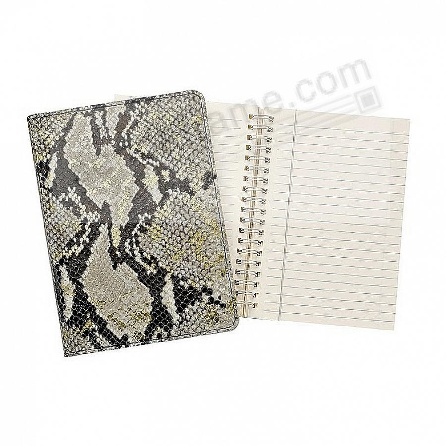 Wire-O-Notebook 9in PYTHON Embossed Gold Wash Leather by Graphic Image™
