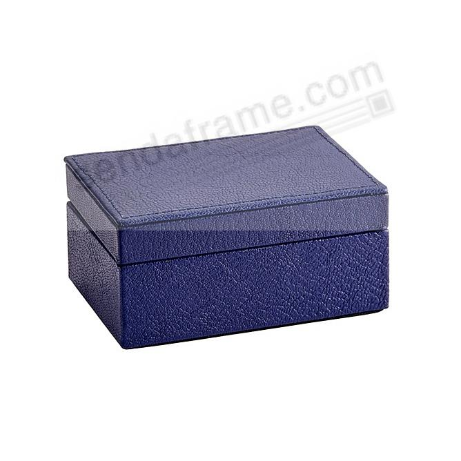 SMALL BOX LUXE INDIGO-BLUE Leather by Graphic Image™