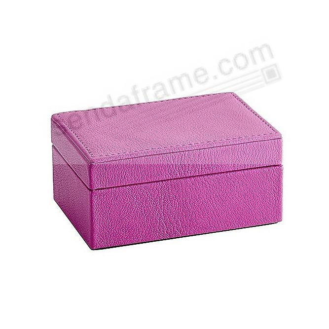 SMALL BOX LUXE ORCHID Leather by Graphic Image™