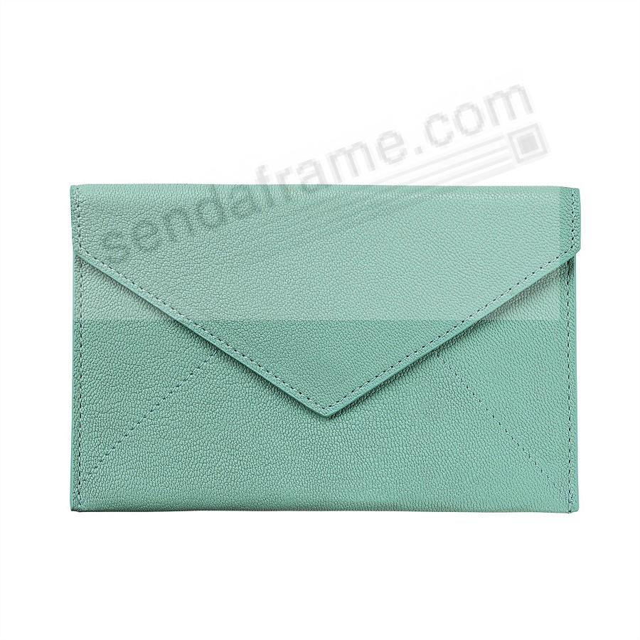 ROBINS-EGG-BLUE luxe Leather Photo Envelope (Medium) by Graphic Image™