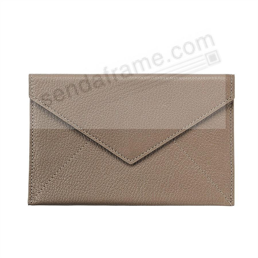TAUPE luxe Leather Photo Envelope (Medium) by Graphic Image™
