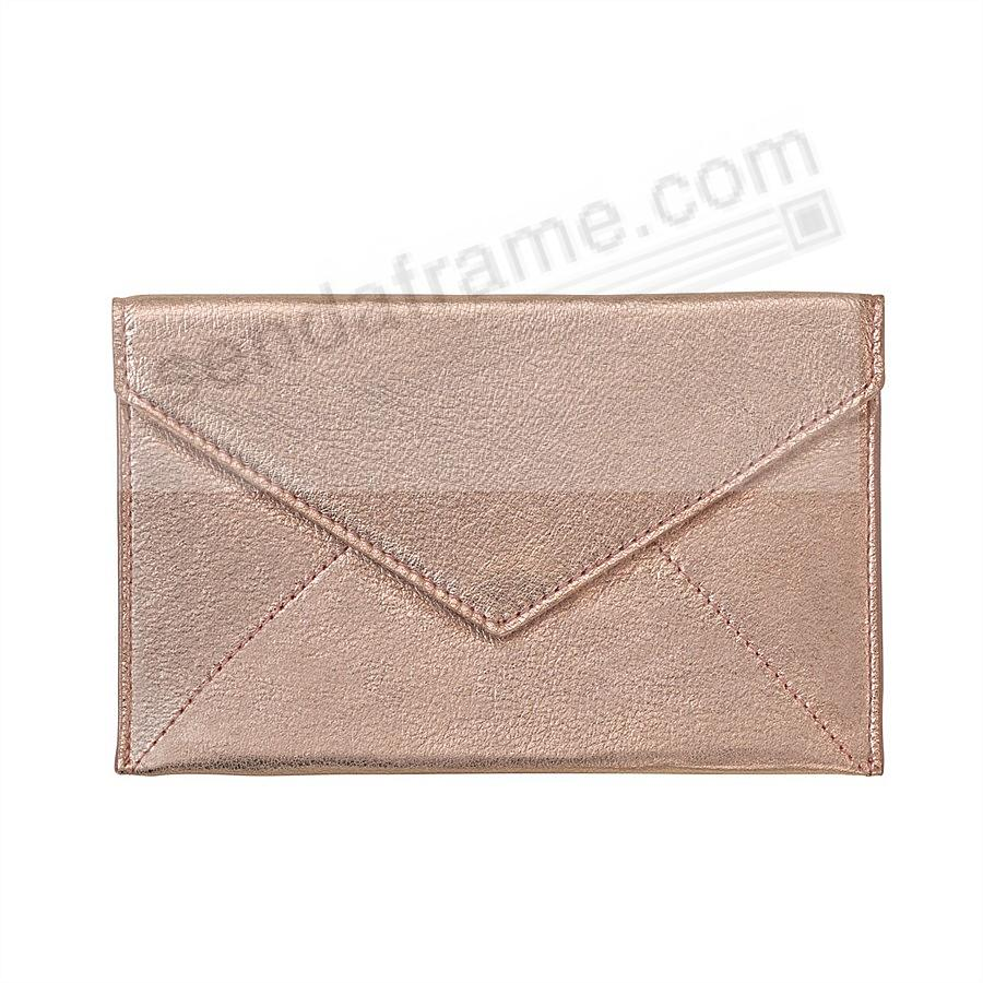 ROSE GOLD METALLIC luxe Leather Photo Envelope (Medium) by Graphic Image™
