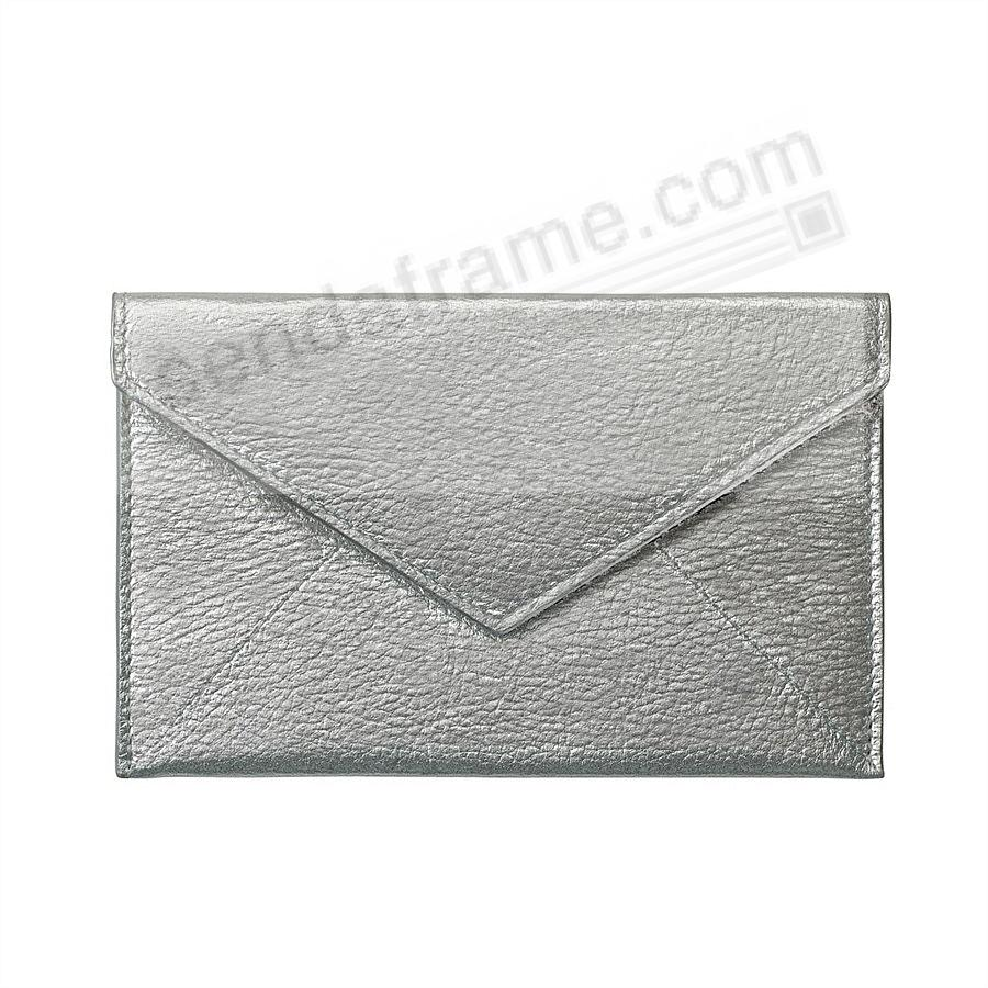 SILVER METALLIC luxe Leather Photo Envelope (Medium) by Graphic Image™