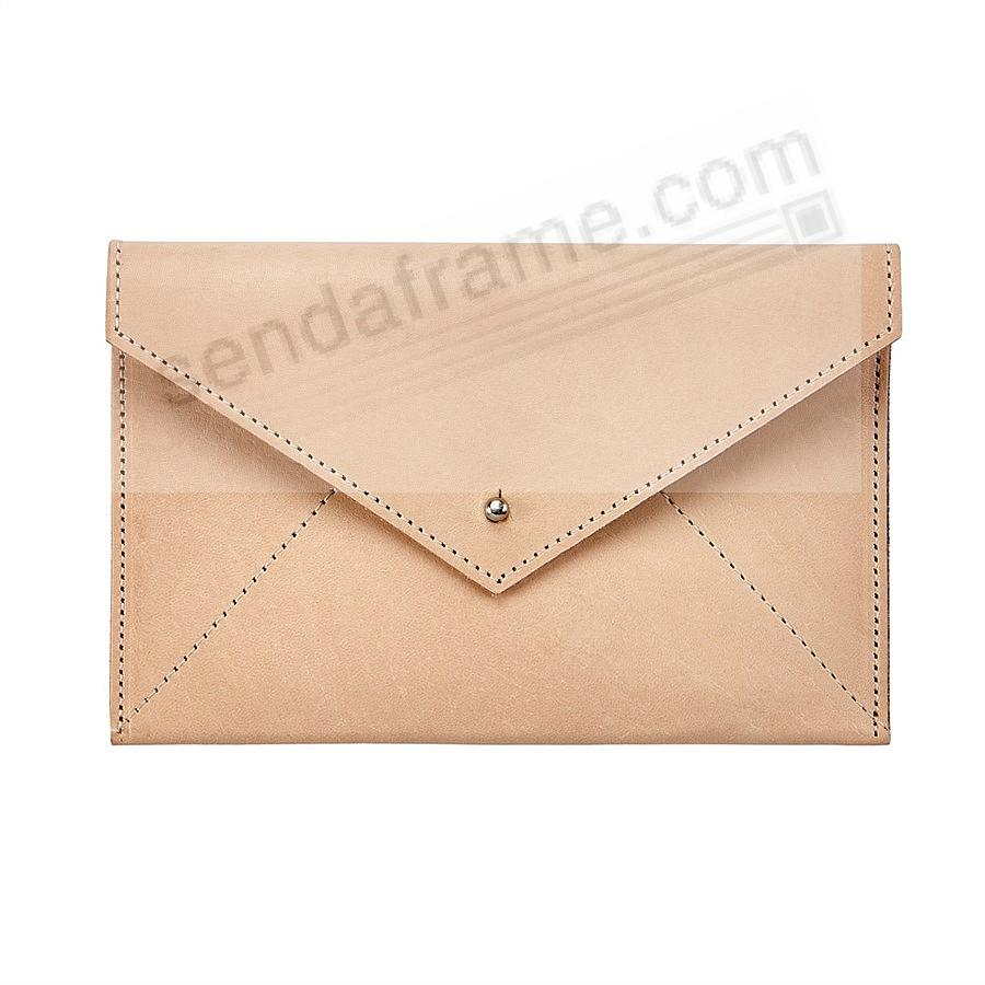 NATURAL VACHETTA luxe Leather Photo Envelope (Medium) by Graphic Image™