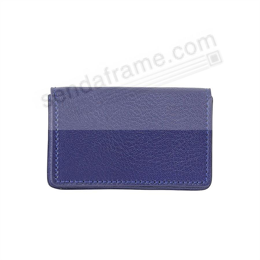 CARD CASE (HARD) in INDIGO BLUE Leather by Graphic Image®