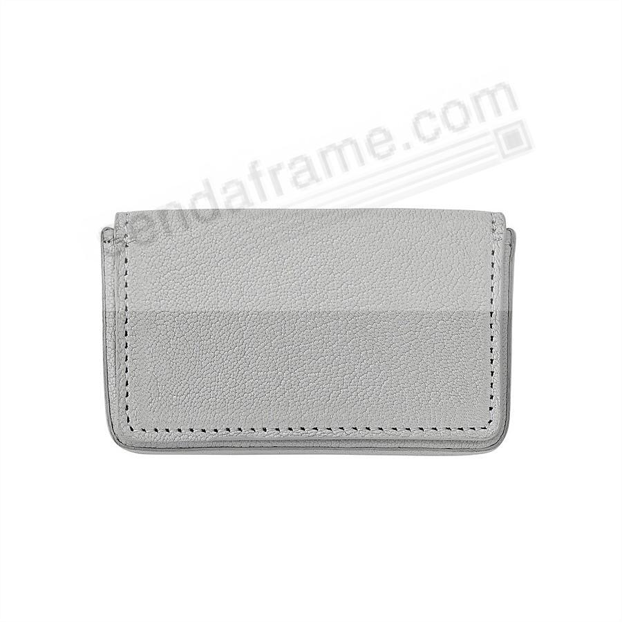 CARD CASE (HARD) in GREY Leather by Graphic Image®