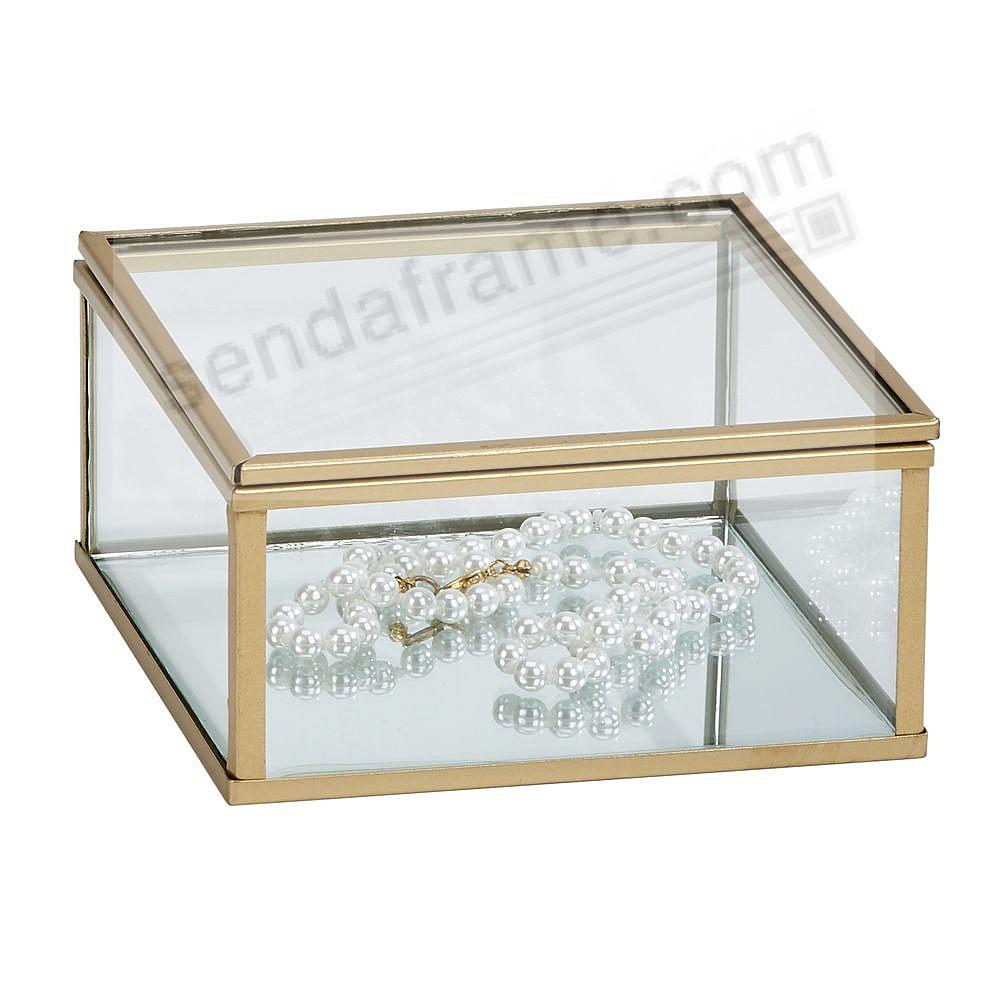 Our Glass / Gold Box 4¾x4¾x2 for special item Safekeeping