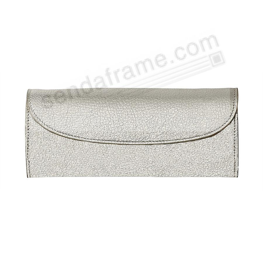 Metallics WHITE GOLD Fine Leather Jewel Roll (Large) by Graphic Image™