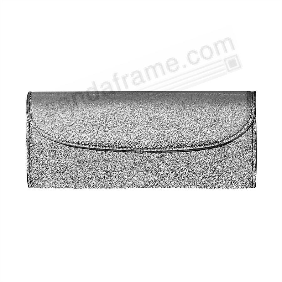 Metallics SILVER Fine Leather Jewel Roll (Large) by Graphic Image™