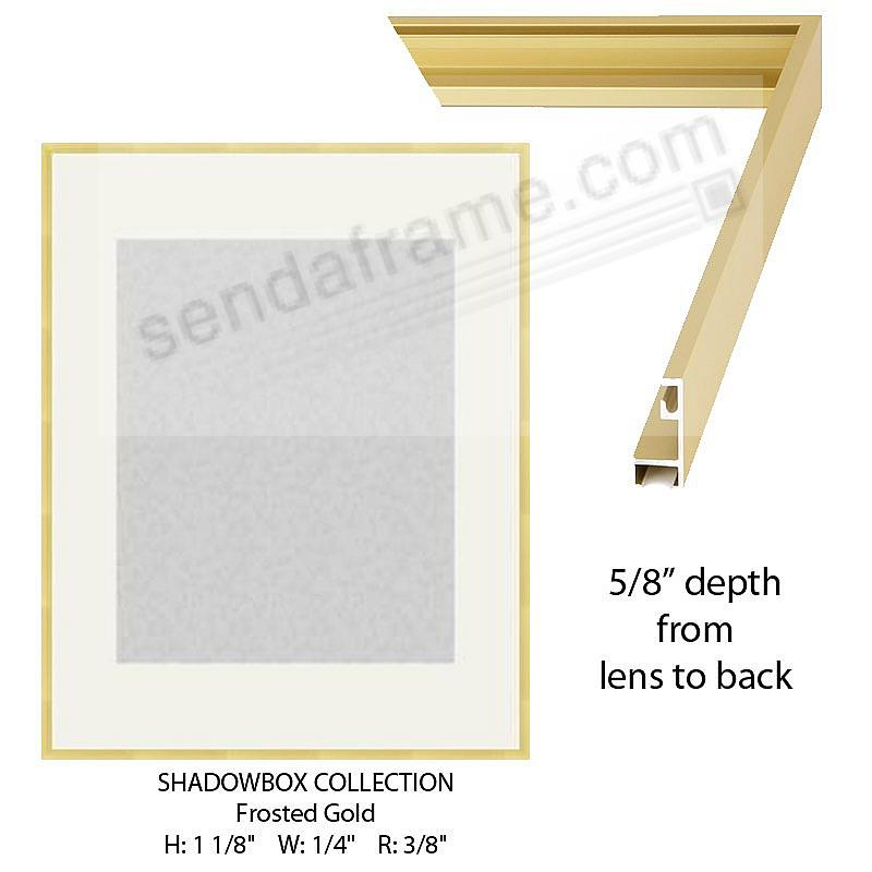 Custom-Cut™ SHADOW Box 5/8-in Depth - 18x24 Gold Metal H:1-1/8 W:1/4 R:3/8