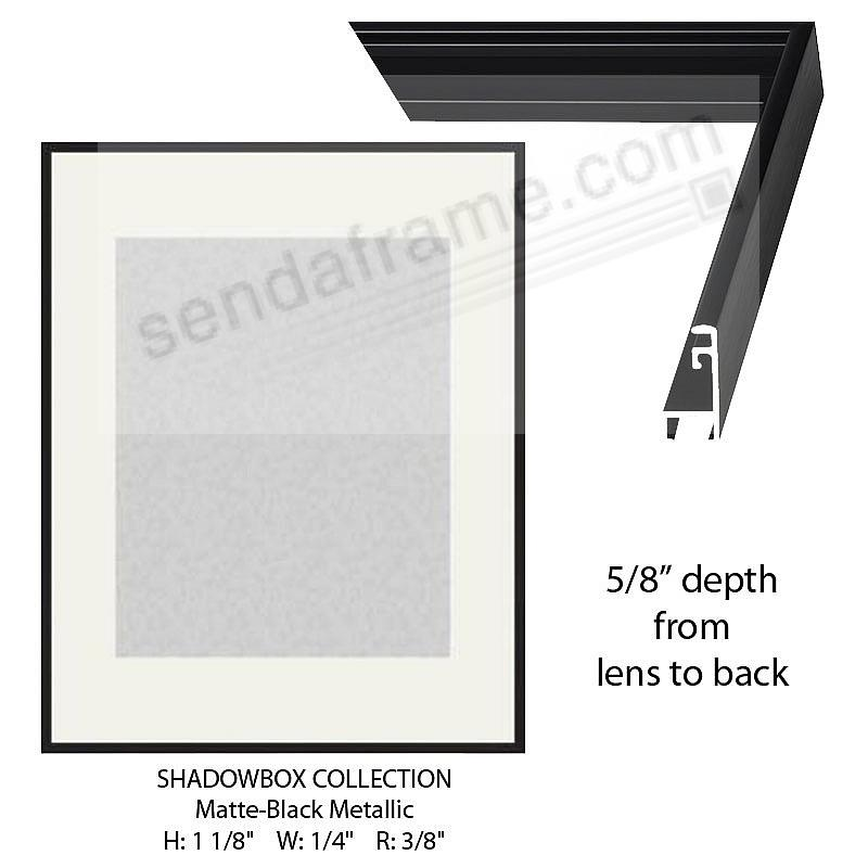 Custom-Cut™ SHADOW Box 5/8-in Depth - 8x10 Black Metal H:1-1/8 W:1/4 R:3/8