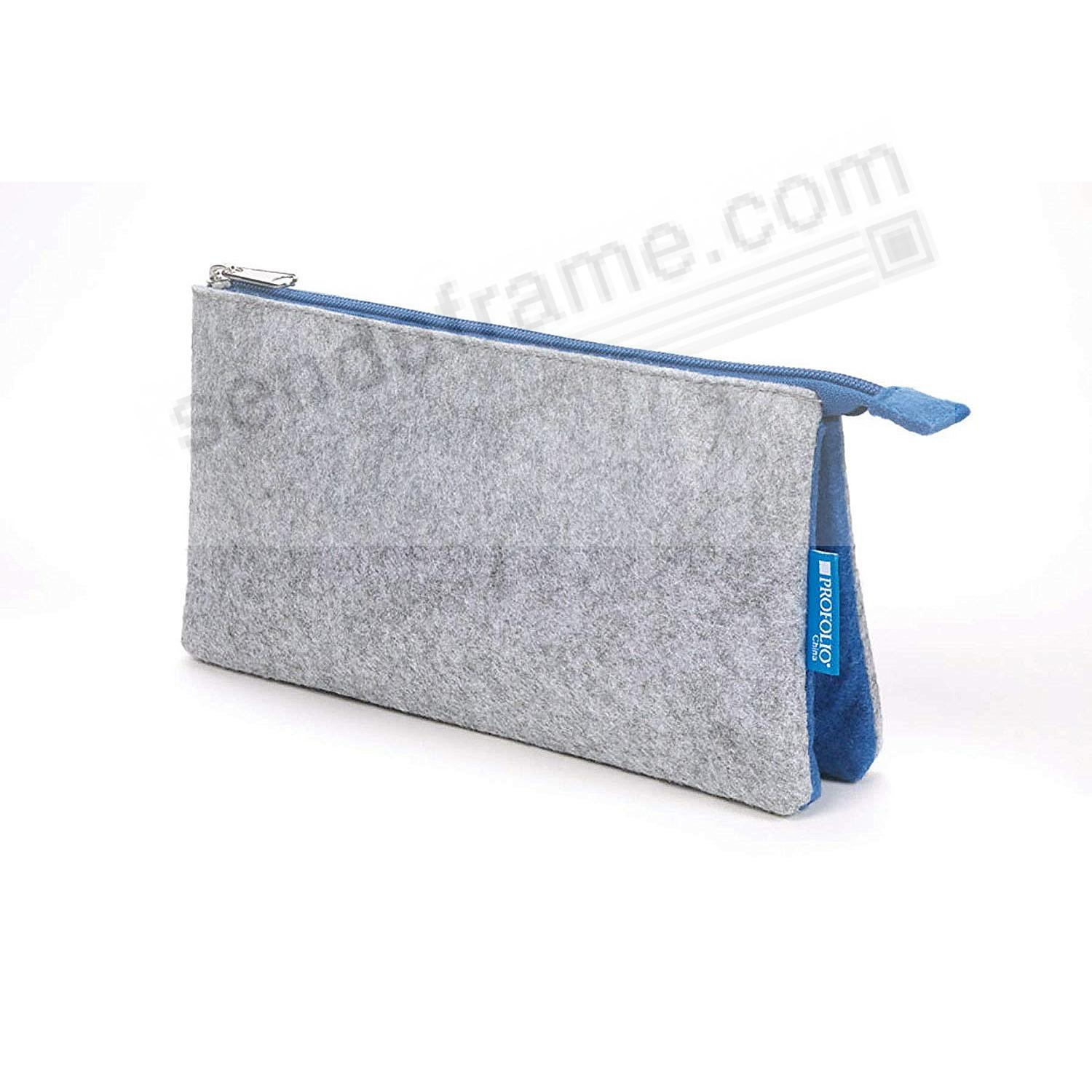 The NEW MIDTOWN (4x7-Medum) POUCH by Itoya - GRAY/Blue