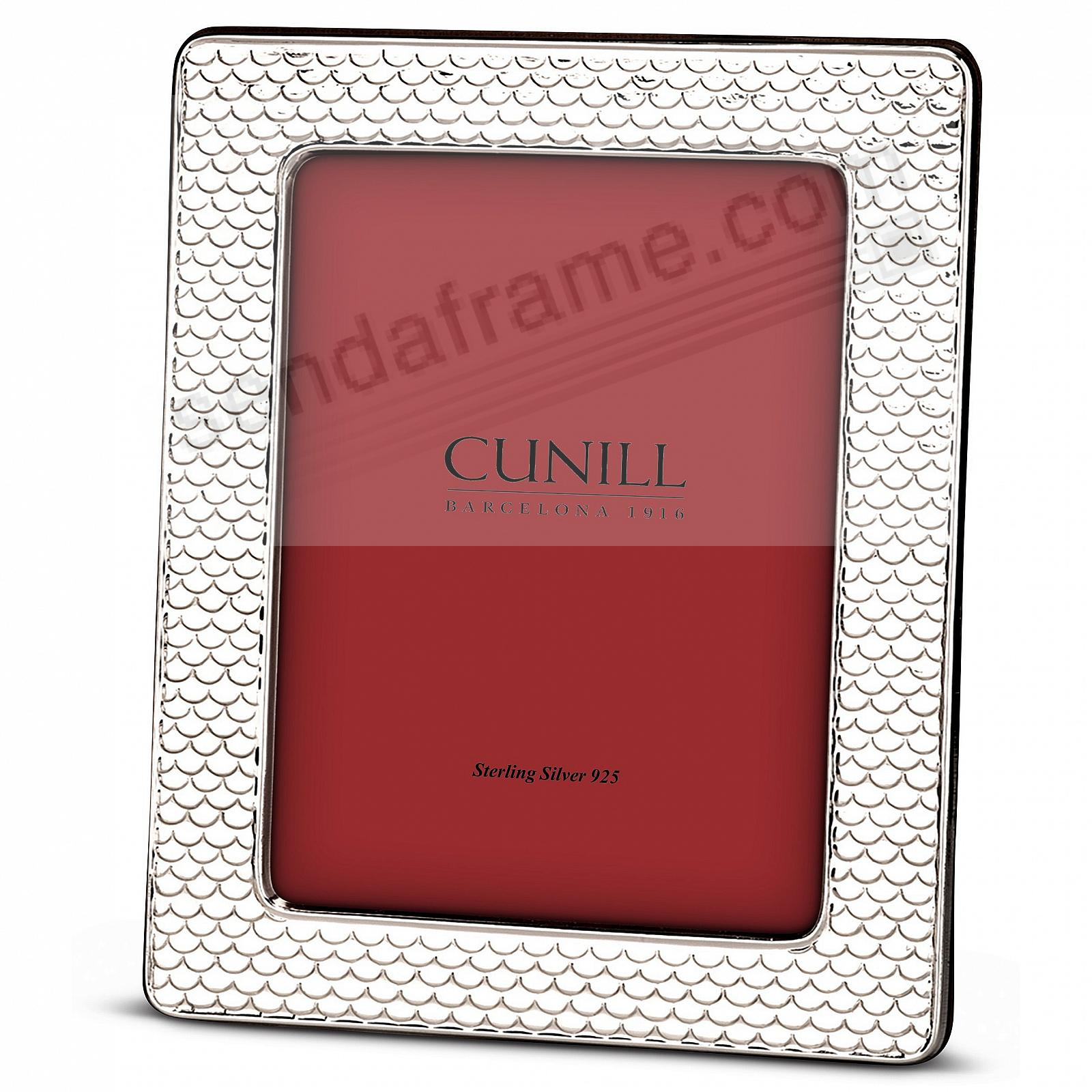 Fine Sterling Silver SCALLOPED 4x6 frame<br>by Cunill® Italy