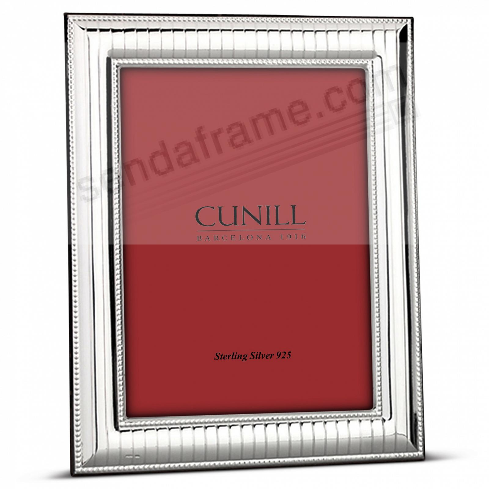 BEADED PINSTRIPE Fine Sterling Silver<br>by Cunill® Italy